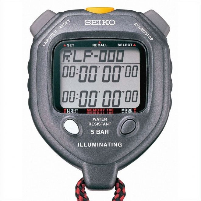 Saturn Stopwatches - Seiko S058 Stopwatch with LED Backlight